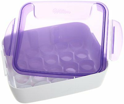 Wilton ICING COLOR ORGANIZER Case 20 Capacity of .5 oz & 1 oz Jars Angled Lid