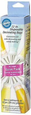 Wilton 12 Inches DECORATING BAG Disposable 50 Pack Cake Piping/Icing/Frosting