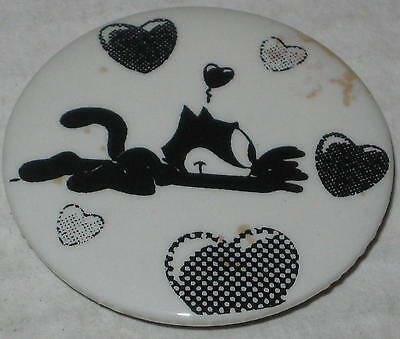 "Approx 1.75"" Felix the Cat Valentine Hearts Pin - Has Spots"