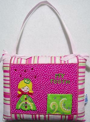 """GIRLS PINK PRINCESS TOOTH FAIRY PILLOW WITH BEADING & EMBROIDERY~NEW 6"""" x 7"""""""