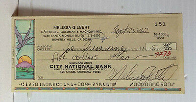 Babylon 5 Autograph Personal Check Signed by Mwlissa Gilbert (LHAU-577)