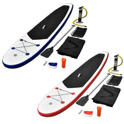 #b New Stand Up Paddle Board Set SUP Surfboard Inflatable Red/Blue & White Canoe