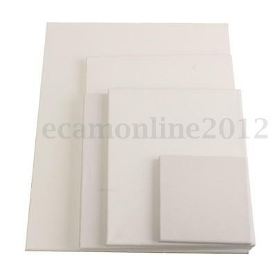White Blank Square Canvas Board Frame 15/25/30/40/50cm For Art Oil Acrylic Paint