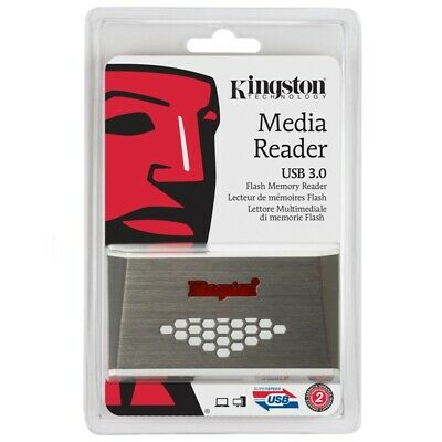 Kingston USB 3.0 High-Speed Media Memory Card  Reader SD CF Compact Flash New UK