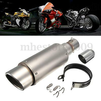 38-51mm échappement Tuyaux Exhaust Muffler Pipe Silencer Moto Street Sport Bike