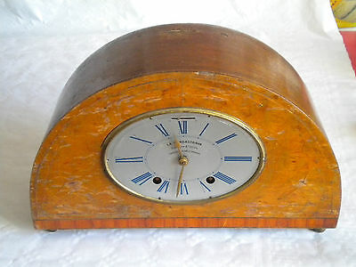 L'Pendastrava Pendule clock savings bank insurance payments 30s french