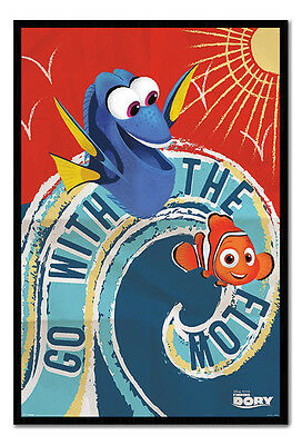 Framed Finding Dory Go With The Flow Poster New