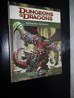 DUNGEONS & DRAGONS D&D D20 4.0 4th Ed Monster Manual 1