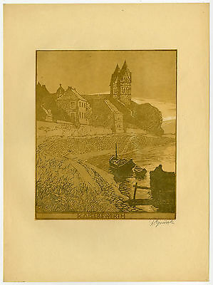 Antique Print-CHURCH-DUSSELDORF-KAISERSWERTH-RHINE-Gruszka-ca. 1930
