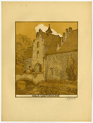 Antique Print-VIEW-MANOR-GASTENDONK-KREFELD-Gruszka-ca. 1930