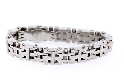 Black & Blue Jewelry Co. 14mm Stainless Steel Natural Diamond Bracelet