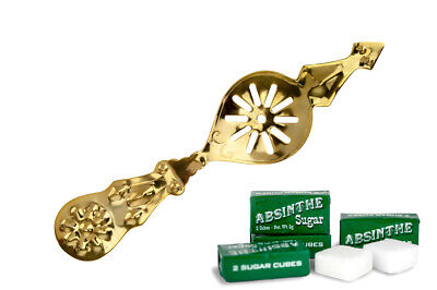 #12 Gold-Plated Flower Absinthe Spoon - Free Shipping !!!