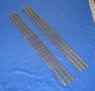 "Lionel Compatible O Gauge 2 Straights 3 Rail Electric 18.5"" long"