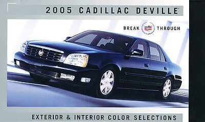 2005 Cadillac Deville and DTS Factory Paint Color Brochure Guide Folder