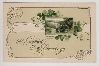 irish embossed postcard ireland clare near kincora co. clare