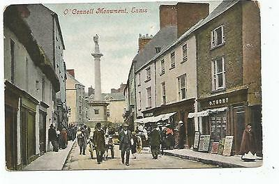 irish postcard ireland clare ennis o. touhy shop on the right
