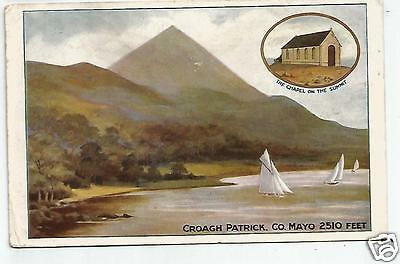 irish postcard ireland mayo croagh patrick