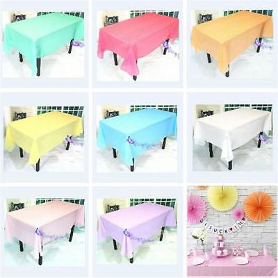 New Table Cloth Colour Rectangle Cover For Party Wedding Birthday Tablecover B