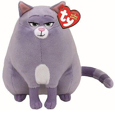 Ty Beanie Babies 41171 Secret Life of Pets Chloe the Grey Tabby Cat