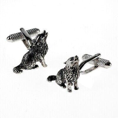 Howling Wolf Cufflinks by Onyx Art - Gift Boxed - Wolves Pack Cuff Links