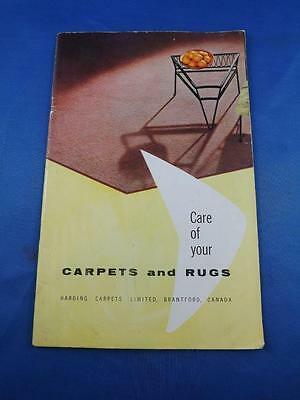 Harding Carpets Brantford Canada Advertising Care Of Your Carpets & Rugs Booklet