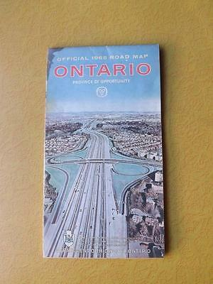 Map 1965 Official Ontario Road Map Province Of Opportunity Department Highways