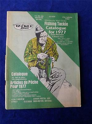 1977 Tackle Town Catalogue Fishing Equipment Lures Reels Rods Vintage Canada