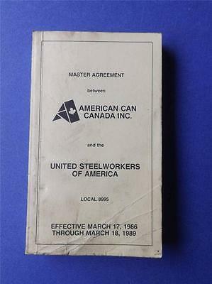 American Can Canada Inc. United Steel Workers Of America Master Agreement 1986