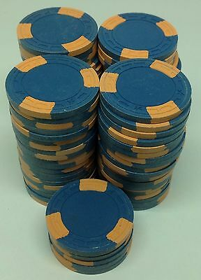 86 Clay ASM Poker Casino Quality Chips Set Blue A Mold FREE SHIPPING