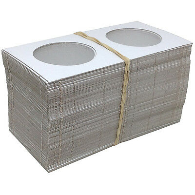 "100 2½"" x 2½"" MYLAR CARDBOARD FLIPS FOR COLLECTOR CASINO CHIPS - FREE SHIPPING *"