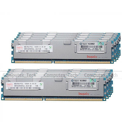 Hynix 96GB 12x8GB PC3L-10600R DDR3-1333Mhz ECC Registered Server Memory RAM 2Rx4