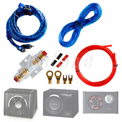 New 1500w Car Audio Subwoofer Sub Amplifier AMP RCA Wiring Kit Cable FUSE