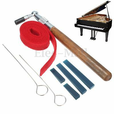 Professional Piano Tuning Hammer Mute Kit Temperament Strip Rubber w/Mutes