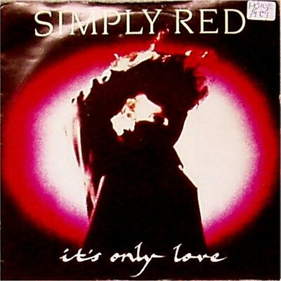 """Simply Red 'it's Only Love' Uk Picture Sleeve 7"""" Single"""