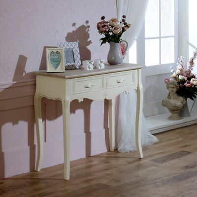 Cream painted dressing console table bedroom shabby french country chic home