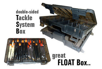Coarse Tackle System Float & Accessories Box, Double Sided, Hooks, Shot,Floats,