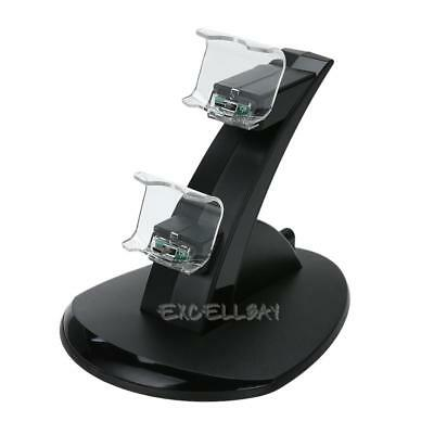Two USB Handle Fast Charging Dock Station Stand Charger for Sony PS4 Controller