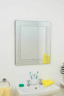 Silver Triple Bevelled Venetian Wall Mirror 2Ft3 X 1Ft11 (68cm X 58cm)