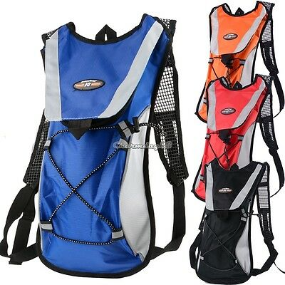 2L Water Bladder Bag Rucksack Cycling Hiking Camping Backpack Camelback Sale POP