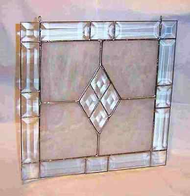 """13""""  Victorian Bevel Frame Kit -EASY Stained Glass project is Clear BEVELS ONLY"""