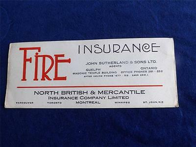 Advertising Ink Blotter North British & Mercantile Insurance Agents Canada