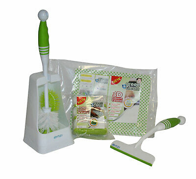 Bentley Green and Clean Bathroom 4 Piece Cleaning Toilet Brush & Holder Set
