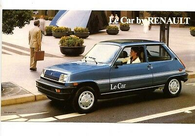 1980 Renault 5 Le Car Small Brochure Canada my6101