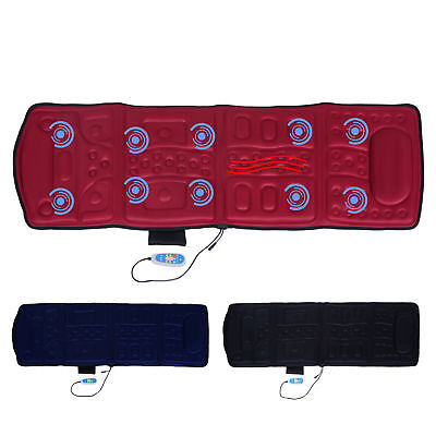 10 Motor Full Body Massage Mat Vibrating Cushion Heat Magnetic Therapy Relief