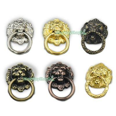 Cabinet Drawer Ring Vintage Lion Head Furniture Door Pull Handle Knob with screw