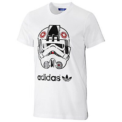 adidas Originals Mens Star Wars Stormtrooper T Shirt Top - White - (B Grade)