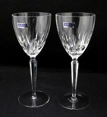 Stunning Pair Of Waterford Marquis Crystal Ariel Water / Wine Goblets Glasses