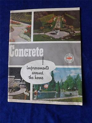 Canada Cement Company Limited Booklet Concrete Improvements Around The Home 1955