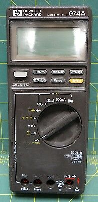 Hewlett Packard Handheld Multimeter 974A 100 kHz 4.5 Digit Made in Japan