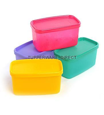 Tupperware Cool Square Half  - Refrigerator containers - ( Set Of 4 ) - Free Shi